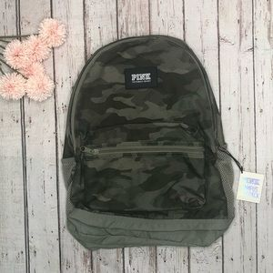 VS PINK Camouflage Campus Backpack